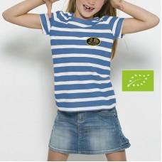 T-shirt Bio marinière, manches courtes pour enfant, unisexe