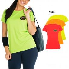 T-shirt respirant, manches courtes pour femme