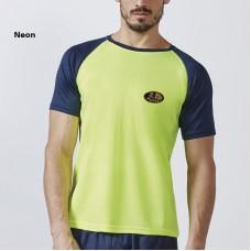 T-shirt bicolore, respirant, manches courtes pour homme, unisexe