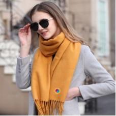 Écharpe, foulard en cachemire de qualité supérieure, unisexe avec l'emblème du créativisme
