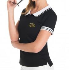 Polo, Chemise, bicolore, manches courtes pour femme