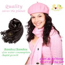 Écharpe, foulard en bambou, unisexe de qualité supérieure, écologique